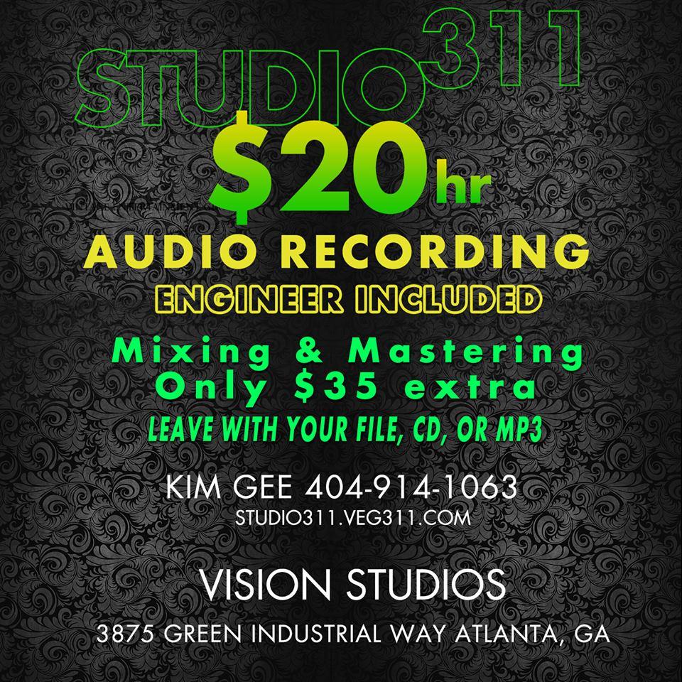 Atlanta Cheap Atudio Recording