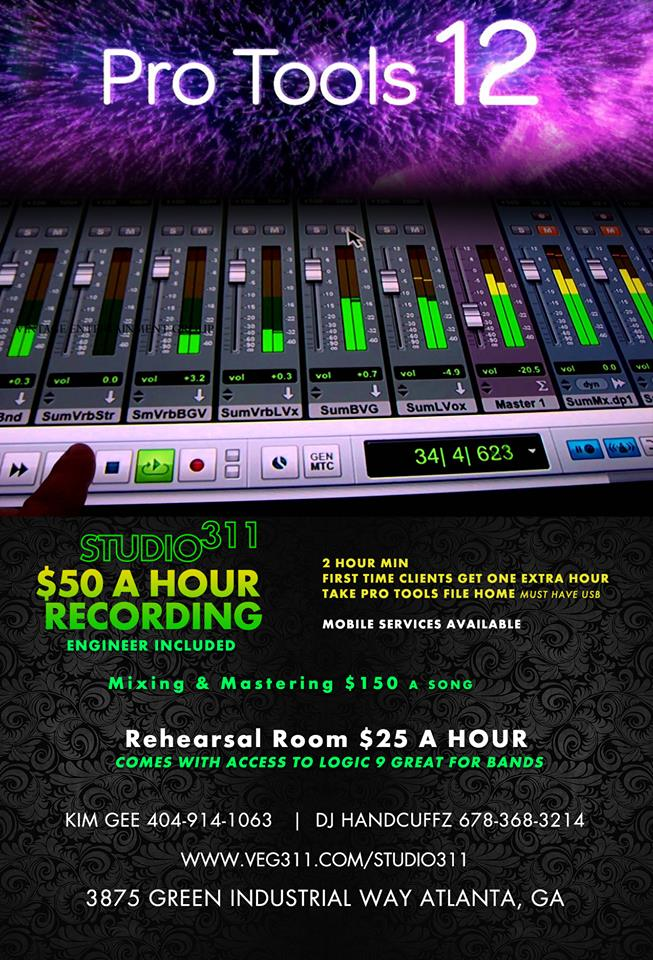 Atlanta Audio Recording Studio Time Package