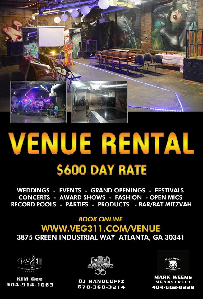 Atlanta Concert Event Wedding Venue Rental